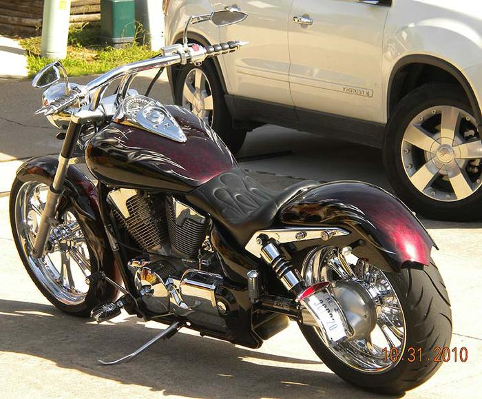 VTX1300 Black Chrome Short BOBBER 11.5 Shocks