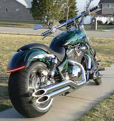 Lance Lenhart - VTX 1800 C - Xchoppers Big Fender with LED Option