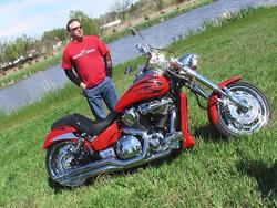 Monty Kroeze - 2007 vtx 1800 with Xchoppers 240 big tire kit