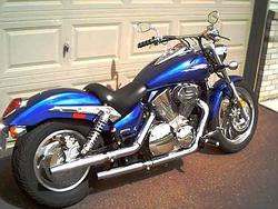 Mark Olson - Xchoppers Slip On Exhausts on Honda VTX 1300 C