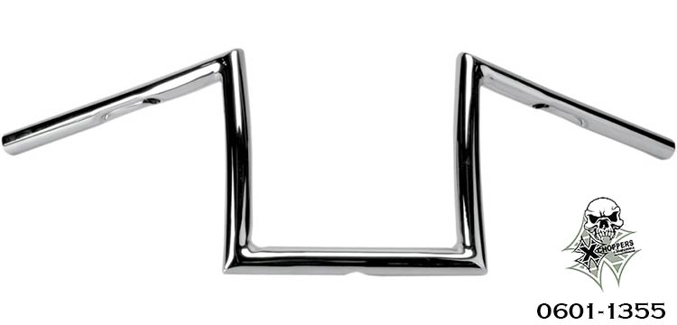 Alloy Art Chrome 1 Inch Strip Handlebar - 8 Inch Rise