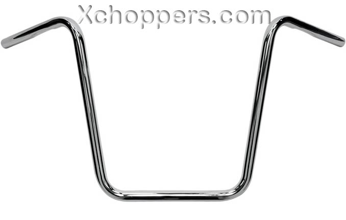 "18 Inch Chrome Ape Hanger Handlebar With Dimples 1"" dia."
