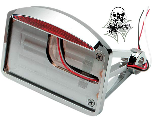 Chrome Horiz. Side Mount w/Half-Moon Taillight - Shock Mount