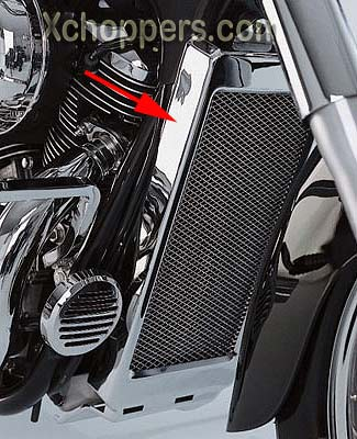 Big Bike Parts Mesh Radiator Grille for VT750