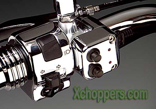 Big Bike Parts Chrome Acces. Switch Block for 1in. Bars