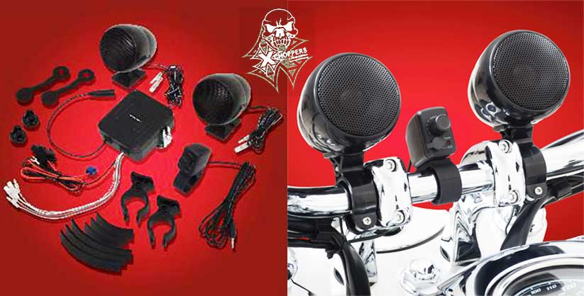 Big Bike Parts Waterproof Sound System - Black