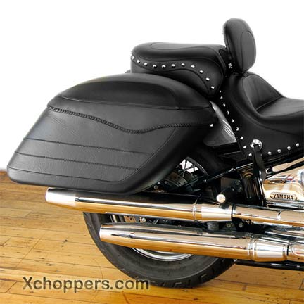 Mustang Covered Hard Saddlebags as shown (no studs) (pair)