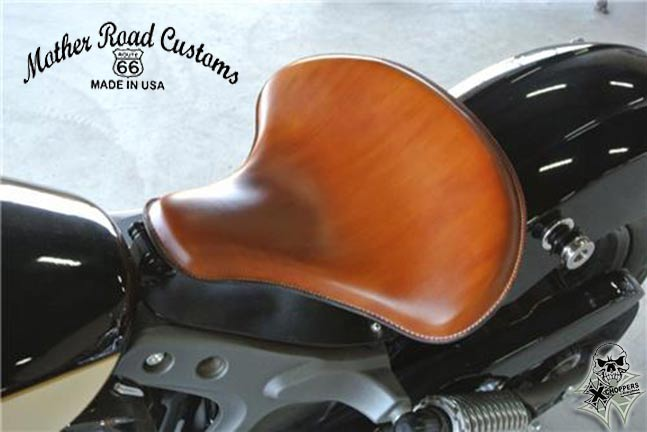 Mother Road '15+ Indian Scout Spring Solo Seat - Desert Tan