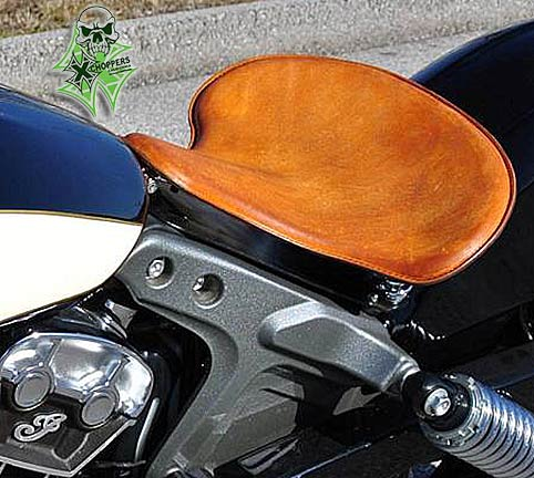 Mother Road '15+ Indian Scout Spring Solo Seat - Distressed Tan
