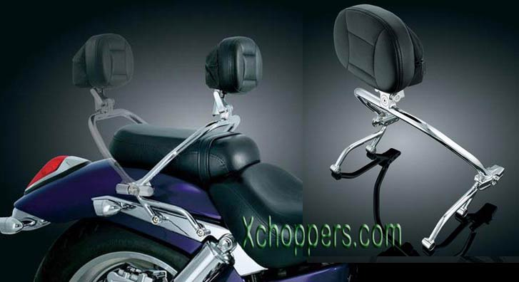 Kuryakyn VTX Switchable Driver/Passenger Backrest (ea)