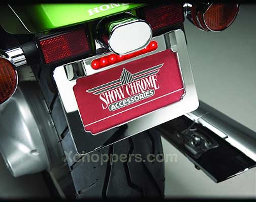 Big Bike Parts - Chrome LED License Plate Frame