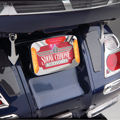 CONTOURS LED LICENSE PLATE FRAME WITH MULTI FUNCTION LIGHTS
