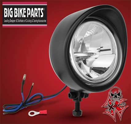 "Big Bike Parts BLACK 3 1/2"" LED FOCUS DRIVING LIGHT"