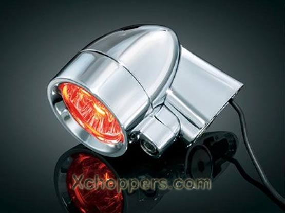 Kuryakyn Super Bright LED RED Silver Bullets 5/16 mount - pair