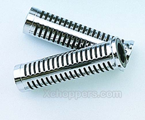 Big Bike Parts Chrome Edge Cruiser Grips - Fits VTX and other
