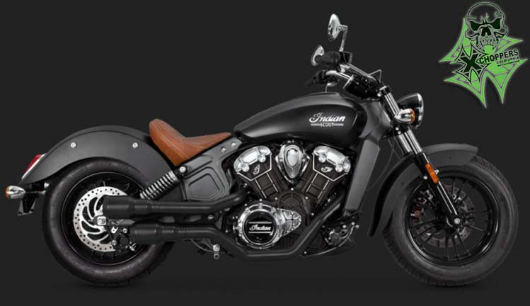 Vance & Hines Hi Output Grenades - Black for 2015+ Indian Scout