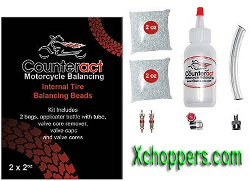 Counteract Motorcycle Tire Balancing Beads Kit (2, 2oz. Bags)