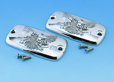 Big Bike Parts - CHROME FREE SPIRIT MASTER CYLINDER COVERS -pair