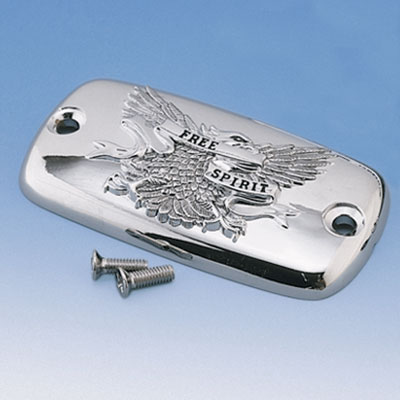 Big Bike Parts - Chrome Free Spirit Master Cylinder Cover - each