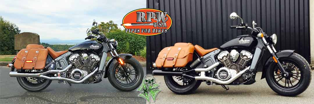 RPW INDIAN SCOUT & SCOUT 60 SLIP ON MUFFLER IN-201