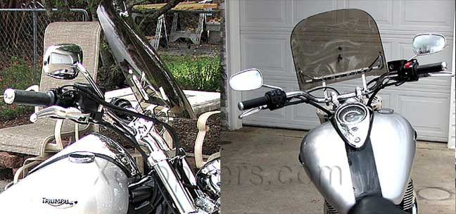 "Windvest - 16"" x 16"" Clear Shield - 2010+ Triumph Thunderbird"
