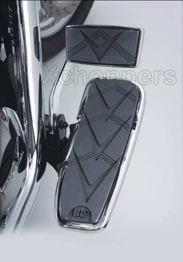 Big Bike Parts - V-Style Chrome Floorboards - VTX R&S