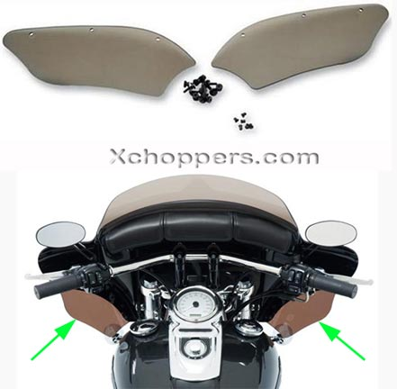 Memphis Shades Wind Deflectors For Batwing Fairings