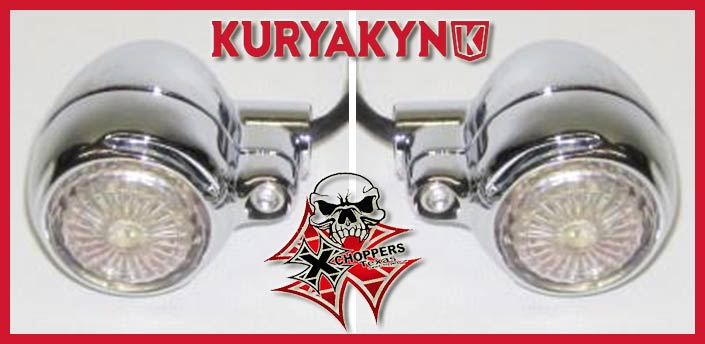 Kuryakyn Small LED Silver Bullets - Red w/ Blue Dot 3/8-16