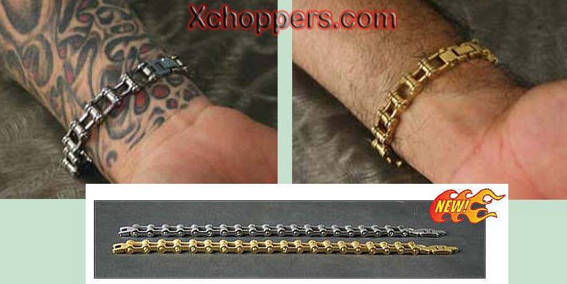 Ultima Stainless Steel Motorcycle Style Chain Bracelet