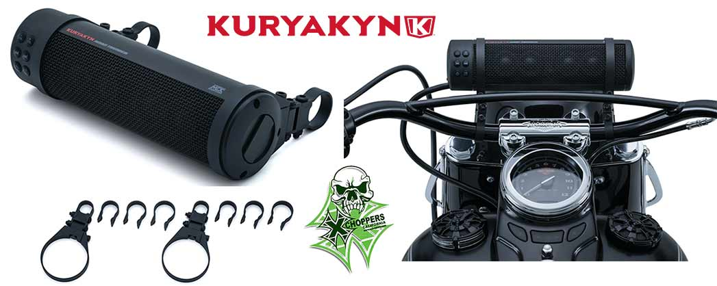 Kuryakyn Road Thunder Bluetooth Sound Bar by MTX - Satin Black