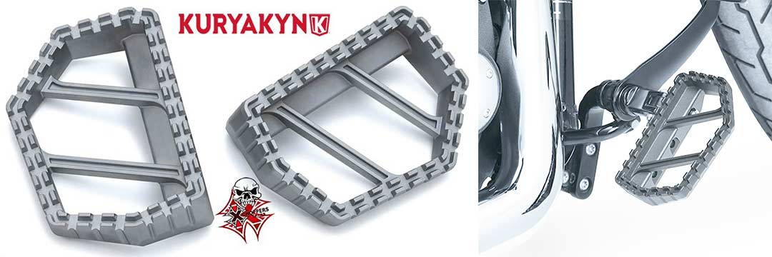 Kuryakyn Silver Riot Mini Boards without Adapters