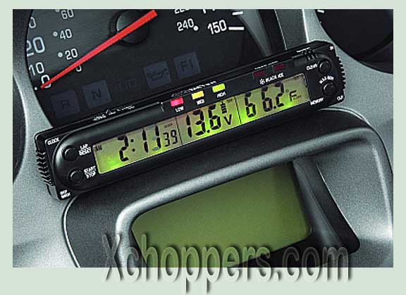 Big Bike Parts Digital 5 Function Volt Meter