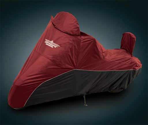 Big Bike Parts ULTRAGARD LARGE CRUISER COVER Cranberry over Blac