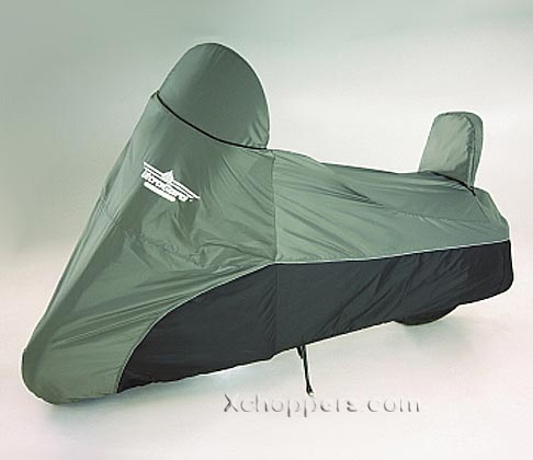 Big Bike Parts LARGE CRUISER COVER CHARCOAL OVER BLACK