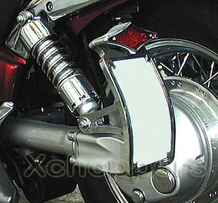 Chromed Billet Curved Sidemount Assy. - Diamond LED Taillight