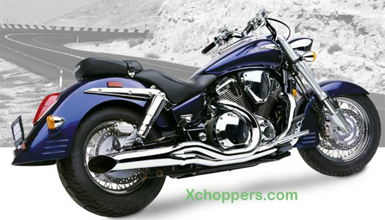Hard Krome CHROME Sideburners - VTX 1800 R,S (2002-2007)