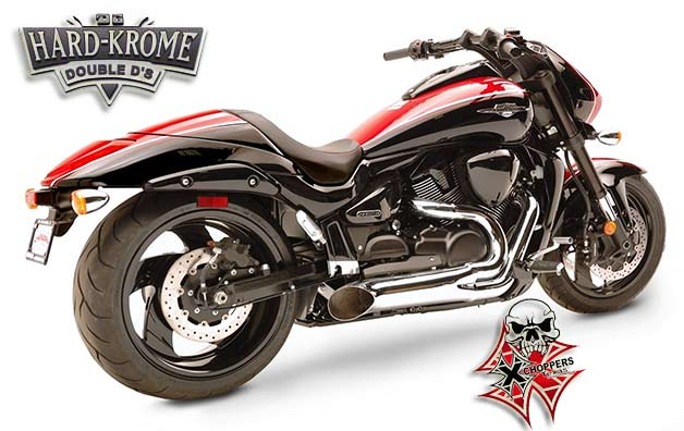 Hard Krome Short Sideburner - CHROME FOR '06+ M109R