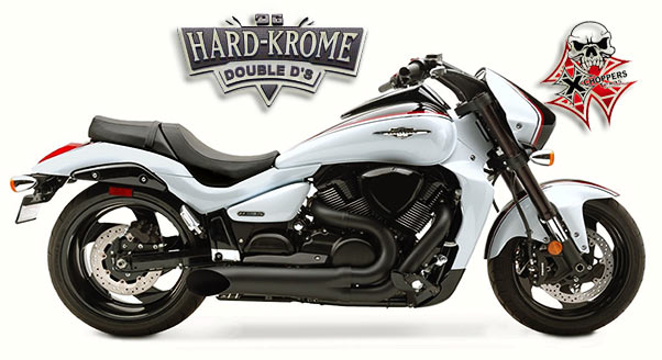 Hard Krome Short Sideburner - Ceramic Black FOR '06+ M109R