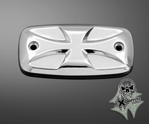Highway Hawk Chrome Master Cyl. Cover Maltese Cross - Suzuki