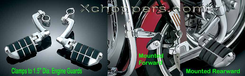 "Kuryakyn Longhorn Offset Dually Highway Pegs (Fit 1.5"" bars)"