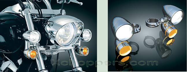 Wild West Honda >> Xchoppers.com - Kuryakyn Constellation Driving Lights with Turn Signals