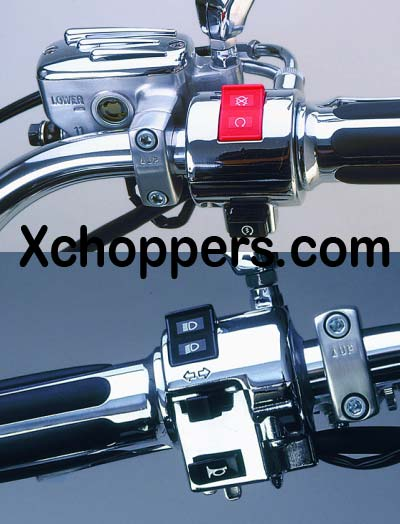 Chrome Control Boxes for Brake & Clutch Sides - HONDA CRUISERS