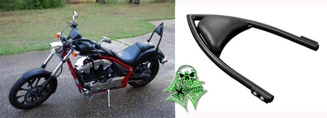 Highway Hawk Arch Sissybar Kit in Chrome or Black for Honda Fury