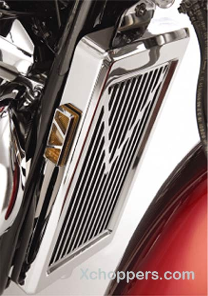 Big Bike Parts V-STYLE RADIATOR GRILLE - VT-1100