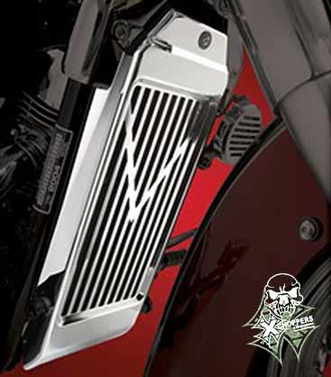 Big Bike Parts V-Style Radiator Cover for 750 Aero and Spirit
