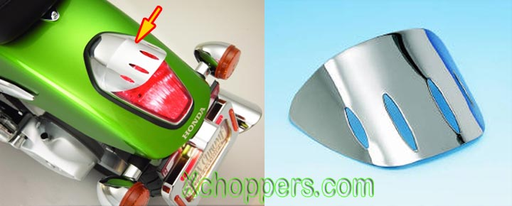 Big Bike Parts - Tail Light Visor - Honda VTX 1300C, 1800C