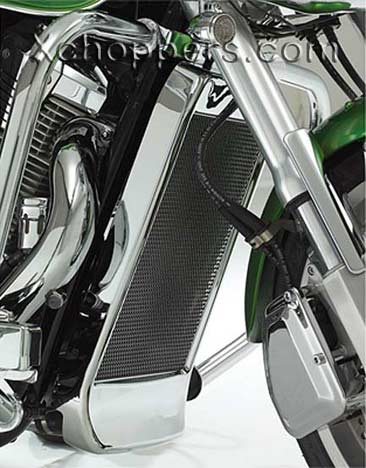 Big Bike Parts - Chrome Mesh Radiator Grille - VTX 1800 C/F/R/