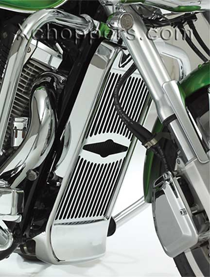 Big Bike Parts - CELESTAR RAD. GRILLE W/SPOILER - VTX 1800