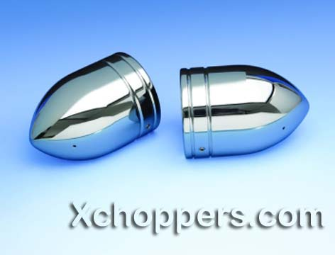 Big Bike Parts - BULLET FORK COVERS Honda/Suzuki/Yamaha/Kawsaki
