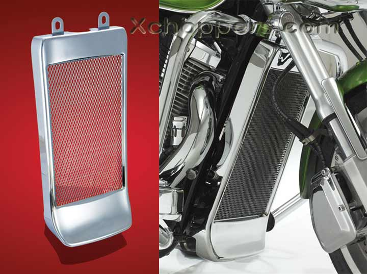 Big Bike Parts Mesh Grille with Spoiler - VTX 1300 C/R/S
